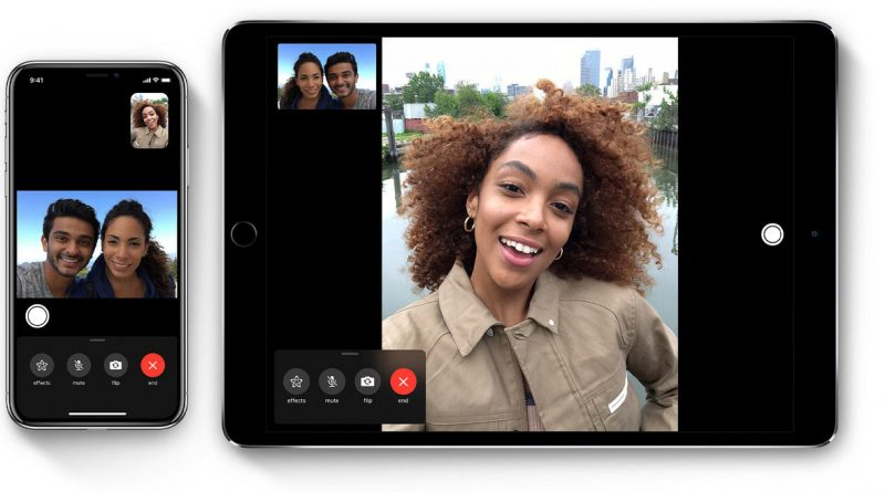 Facetime, application d'appels groupés