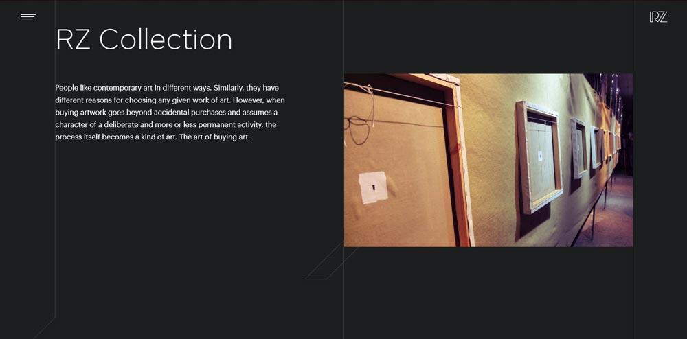 Accueil du site RZ Collection