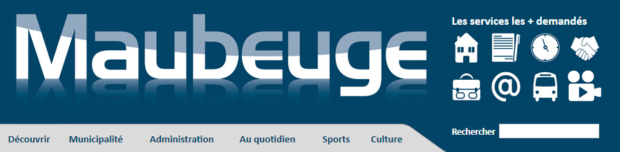 Menu du site internet de Maubeuge